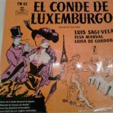 Discos de vinilo: - EL CONDE DE LUXEMBURGO - OPERETA DE FRANZ LEHAR -. Lote 40287284