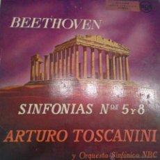 Discos de vinilo: - BEETHOVEN - SINFONIAS - 5 Y 8 - ARTURO TOSCANINI -. Lote 40287332