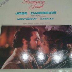 Discos de vinilo: - ROMANZA FINAL - JOSE CARRERAS Y MONTSERRAT CABALLE - DOBLE ALBUM-. Lote 40287358