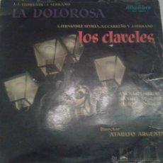Discos de vinilo: - LA DOLOROSA - LOS CLAVELES - COROS CANTORES DE MADRID - Y GRAN ORQUESTA SINFONICA-. Lote 40287390