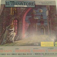 Discos de vinilo: - ( VERDI ) - IL TROVATORE - FRAGMENTOS -. Lote 40287486