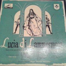 Discos de vinilo: - LUCIA DI LAMMERMOOR - PRIMERA EDICION - ( DISCOS DE LA VOZ DE SU AMO )- ( DOBLE ALBUM ). Lote 40287609