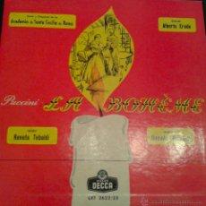 Discos de vinilo: - LA BOHEME - DE PUCCINI - ( ALBUM CON 2 LPS ). Lote 40287777