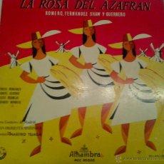 Discos de vinilo: - LA ROSA DEL AZAFRAN -. Lote 40287886