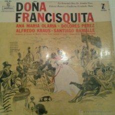 Discos de vinilo: - DOÑA FRANCISQUITA -. Lote 40288081