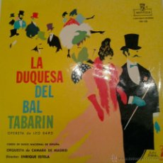 Discos de vinilo: - LA DUQUESA DEL BAL TABARIN -. Lote 40288136
