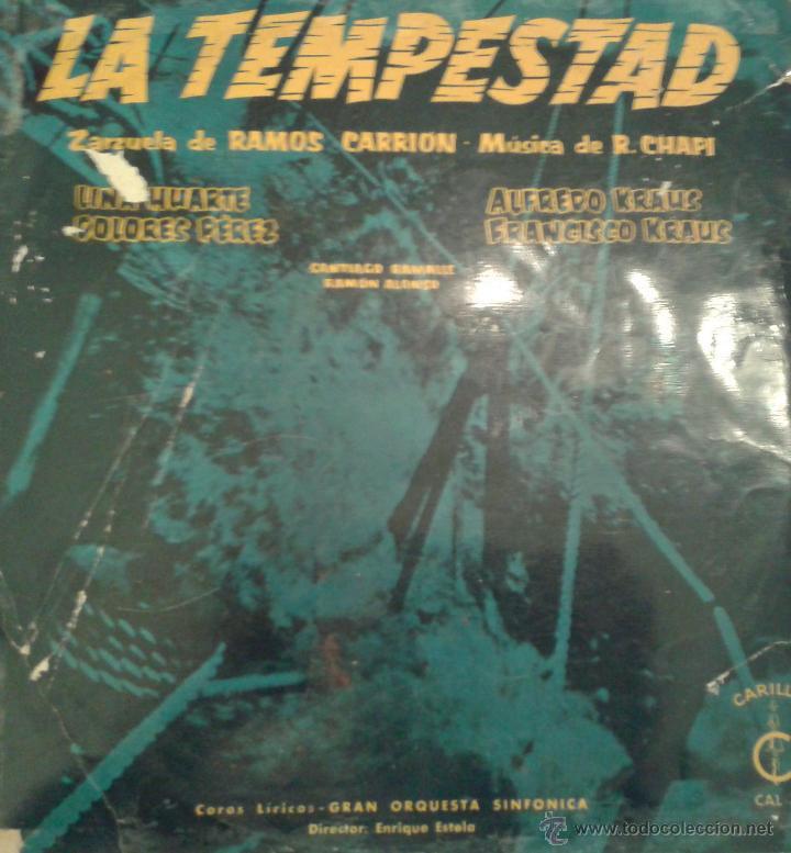 - LA TEMPESTAD - ZARZUELAS DE RAMOS CARRION - (Música - Discos - Singles Vinilo - Clásica, Ópera, Zarzuela y Marchas)
