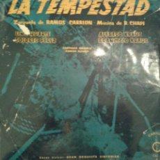 Discos de vinilo: - LA TEMPESTAD - ZARZUELAS DE RAMOS CARRION -. Lote 40288193