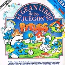 Discos de vinilo: PITUFOS - EL GRAN LIBRO DE LOS JUEGOS - LP 1980 - PORTADA DOBLE CON JUEGOS. Lote 40293598