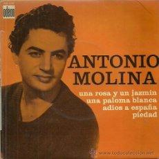 Discos de vinilo: ANTONIO MOLINA EP SELLO ODEON EDITADO EN FRANCIA. Lote 40317319