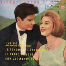 Discos de vinilo: VICENTE PARRA - B.S.O. FILM CARIÑO MIO, EP, CARIÑO MIO + 3, AÑO 1962. Lote 40323942