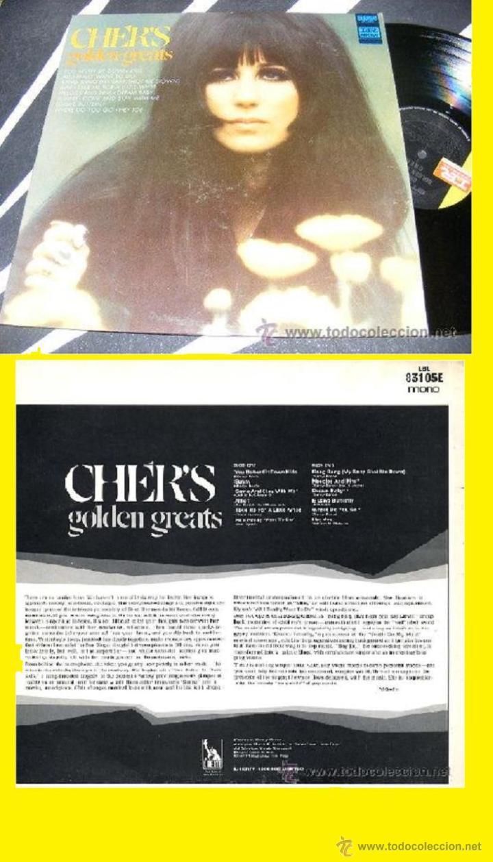 CHER / CHER'S GOLDEN GREATS 1968 !! RARA 1ª EDIC. ORIG. USA !!!! (Música - Discos - LP Vinilo - Pop - Rock - Extranjero de los 70)