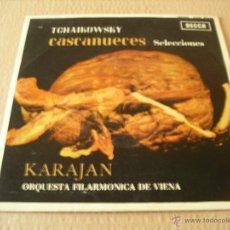 Discos de vinilo: VON KARAJAN EP 45 RPM TCHAIKOVSKY CASCANUECES SELECCION DECCA ESPAÑA 1963 NEAR MINT/EX++. Lote 40332768