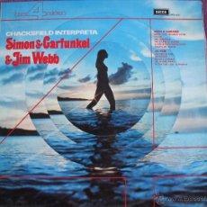 Discos de vinilo: LP - FRANK CHACKSFIELD - INTERPRETA A SIMON AND GRAFUNKEL Y JIM WEBB (SPAIN, DECCA RECORDS 1973). Lote 40341495