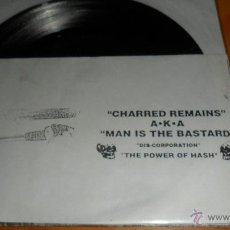 Discos de vinilo: CHARRED REMAINS AKA MAN IS THE BASTARD , 9 SONGS. Lote 40365296