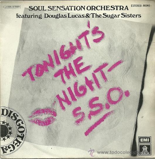 SOUL SENSATION ORCHESTRA SINGLE SELLO EMI ODEON AÑO 1976 (Música - Discos - Singles Vinilo - Funk, Soul y Black Music)