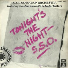 Discos de vinilo: SOUL SENSATION ORCHESTRA SINGLE SELLO EMI ODEON AÑO 1976. Lote 40370957