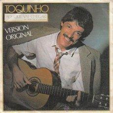 Discos de vinilo: TOQUINHO: AO QUI VA CHEGAR / LINDA FLOR. EDITADO POR POLYDOR EN 1984. Lote 40383892