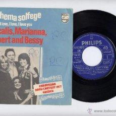 Discos de vinilo: EUROVISION GRECIA 1977 PASCALIS SPANISH 45 MATHEMA SOLFEGE PHILIPS 1977 EDICION ESPAÑOLA. Lote 40385375