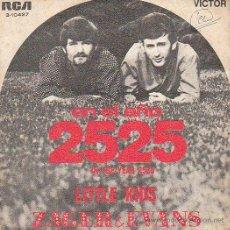 Discos de vinilo: ZAGER & EVANS: LITTLE KIDS / EN EL AÑO 2525. EDITADO POR RCA VICTOR EL AÑO 1969. Lote 40385515