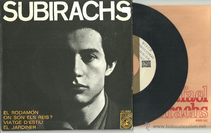 SUBIRACHS VIATGE D´ESTIU + 3 EP CONCENTRIC 1968 @ SETZE JUTGES MASPONS UBIÑA @ COMO NUEVO + LLETRES (Música - Discos de Vinilo - EPs - Cantautores Españoles)