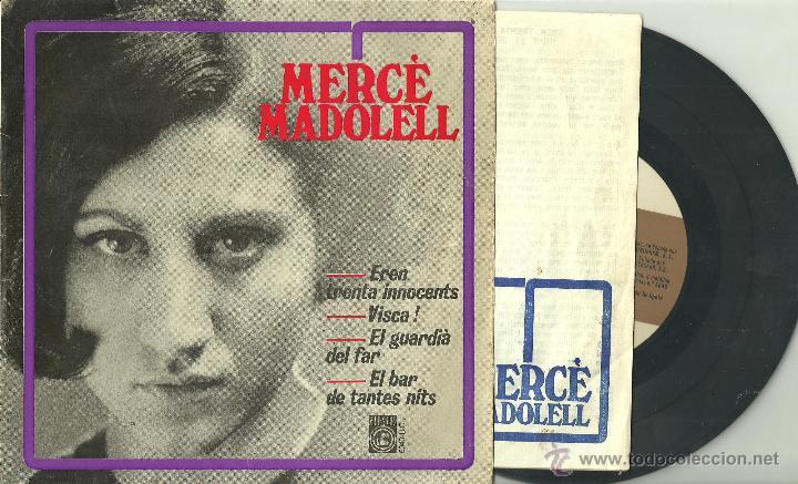 MERCE MADOLELL EL BAR DE TANTAS NITS + 3 EP CONCENTRIC 1966 @ CANÇÓ @ + LETRAS (Música - Discos de Vinilo - EPs - Cantautores Españoles)