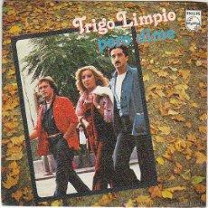 Discos de vinilo: TRIGO LIMPIO. PERO DIME / VIVE COMO QUIERES. SINGLE EDITADO POR EL SELLO PHILLIPS EN 1979. Lote 40395280