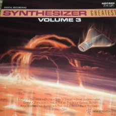 Discos de vinilo: SYNTHESIZER VOLUME 3 GREATEST LP - ORIGINAL ESPAÑA - ARCADE RECORDS 1991 -. Lote 40401860