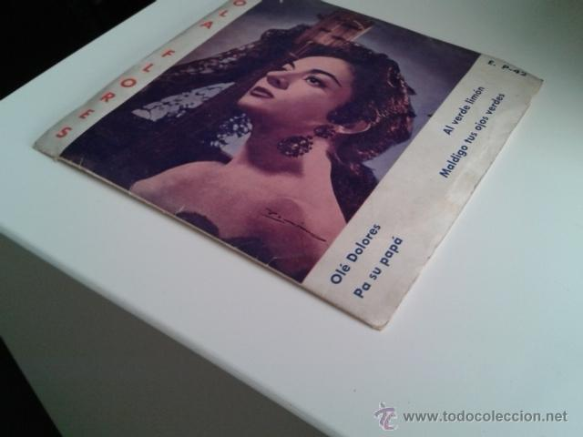 Discos de vinilo: Lola Flores - Olé Dolores / Al Verde Limón +2 EP ALHAMBRA VENEVOX E P-42 Venezuela MEGA RARO - Foto 2 - 40410215