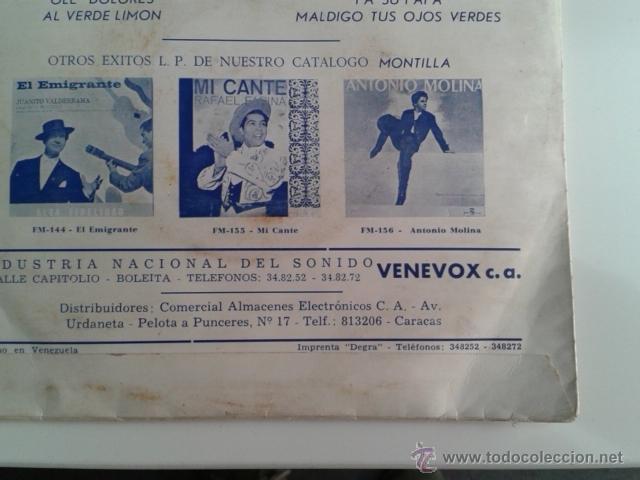 Discos de vinilo: Lola Flores - Olé Dolores / Al Verde Limón +2 EP ALHAMBRA VENEVOX E P-42 Venezuela MEGA RARO - Foto 8 - 40410215