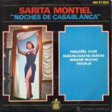Disques de vinyle: SARITA MONTIEL, EP, BESAME MUCHO + 3, AÑO 1963. Lote 40419744