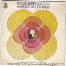 Discos de vinilo: WALDO DE LOS RIOS - MOZARTMANIA - SERENATO N.13 EN SOL MAYOR K.525 - CONCIERTO PARA PIANO Y ORQUESTA. Lote 40426678