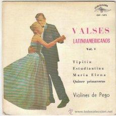 Discos de vinilo: VALSES LATINOAMERICANOS, TIPITIN, ESTUDIANTINA, MARIA ELENA Y OTROS EDITADO POR CUBALEGRE EN 1962. Lote 40426760