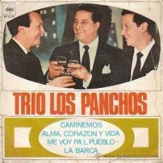 Discos de vinilo: TRIO LOS PANCHOS: CAMINEMOS Y OTRAS. SINGLE DEL SELLO CBS 1967. Lote 40427318