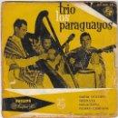 Discos de vinilo: TRIO LOS PARAGUAYOS - MARIA DOLORES / SERENATA / MALAGUEÑA / PAJARO CAMPANA, EDITADO POR CBS 1967. Lote 40427359