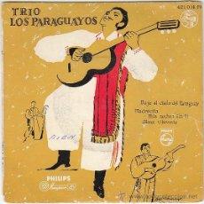 Discos de vinilo: TRIO LOS PARAGUAYOS: BAJO EL CIELO DE PARAGUAY, MADRECITA, MIS NOCHES.. EDITADO POR PHILLIPS AÑOS 50. Lote 40427413