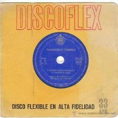 Discos de vinilo: PASODOBLES TOREROS, ESPAÑA CAÑÍ, GALLITO, HISPAVOX, 1961. DISCO FLEXIBLE. Lote 40427600