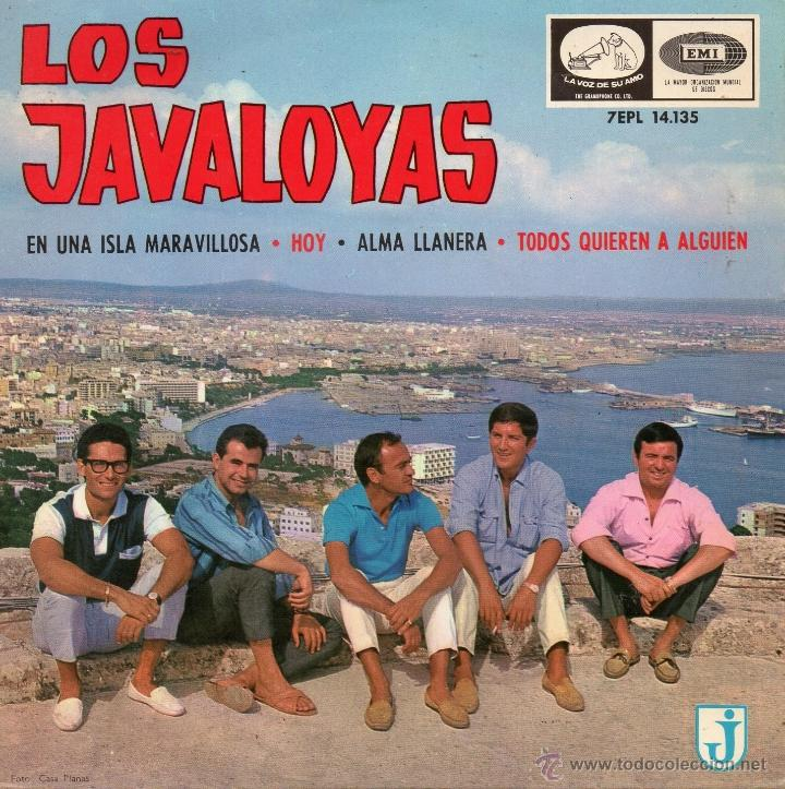 JAVALOYAS, EP, EN UNA ISLA MARAVILLOSA + 3, AÑO 1965 (Música - Discos de Vinilo - EPs - Grupos Españoles 50 y 60)
