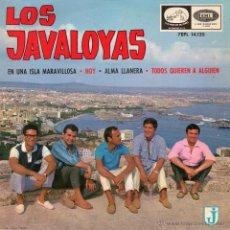 Discos de vinilo: JAVALOYAS, EP, EN UNA ISLA MARAVILLOSA + 3, AÑO 1965. Lote 40434439
