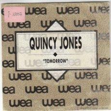 Discos de vinilo: QUINCY JONES - TOMORROW, EDITADO POR WEA EN 1990, PROMOCIONAL. Lote 40451094