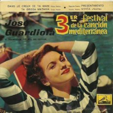 Discos de vinilo: JOSE GUARDIOLA EP SELLO LA VOZ DE SU AMO AÑO 1961. Lote 40453974