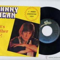 Discos de vinilo: JOHNNY LOGAN EDICION PORTUGAL 45 WHAT´S ANOTHER YEAR EUROVISION. Lote 40465188