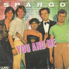 Discos de vinilo: SPARGO - YOU AND ME / WORRY, EDITADO POR WEA EN 1980. Lote 40467475