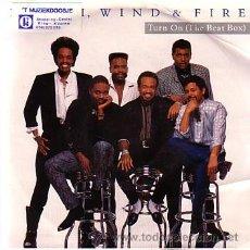 Discos de vinilo: EARTH WIND & FIRE - TURN ON (THE BEAT BOX) - SINGE CBS HOLANDA 1988. Lote 40474231