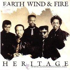 Discos de vinilo: EARTH WIND & FIRE - HERITAGE - SINGE CBS 1990 - PROMO. Lote 40474254