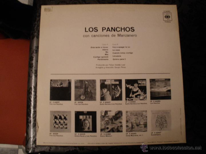 Discos de vinilo: LOS PANCHOS - CON CANCIONES DE MANZANERO - Foto 2 - 40474275