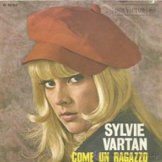 Discos de vinilo: SYLVIE VARTAN SINGLE SELLO RCA VICTOR EDITADO EN ITALIA. Lote 40488123