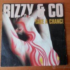 Discos de vinilo: TAKE A CHANCE. TAKE A CHANCE (INSTRUMENTAL) - BIZZY & CO.. Lote 35327920