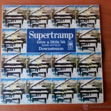 Discos de vinilo: GIVE A LITTLE BIT. DOWNSTREAM - SUPERTRAMP. Lote 35329294