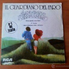 Discos de vinilo: AMORE GRANDE. AMORE LIBERO. VIVERE A DUE - IL GUARDIANO DEL FARO. Lote 35329398